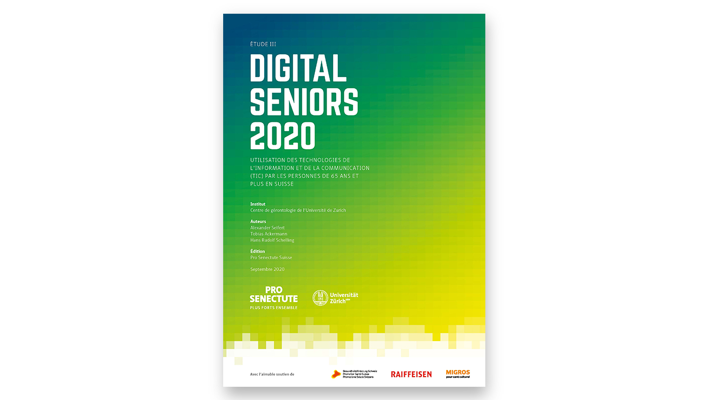 Couverture de l'étude «Digital Seniors» 2020
